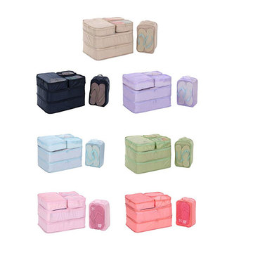 Travel Storage Bag Organizer 6 Set Packing Cubes