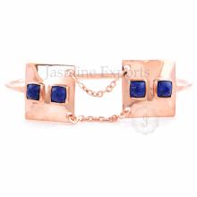 Proveedor al por mayor para el brazalete encantador del encanto de la piedra preciosa de Lapis para las mujeres