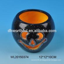 Decoração de halloween vela de cerâmica
