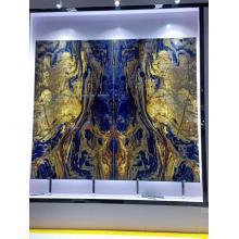 Semillas preciosas losas de sodalita azul transparente grande