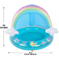 Piscina infantil Rainbow con toldo y spray