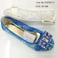 Zapatos populares de la muchacha de la manera Zapatos de la princesa zapato único de los zapatos (FF0724-11)