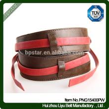 Cinturão de couro genuíno feminino, cintura de cintura Lady Coffee Wide