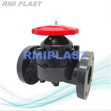 Corpo plástico do PVC da válvula de diafragma ANSI CL150