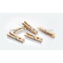 Pinces en bois de couleur nature mini brich