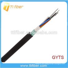Capa de cinta de acero Tubo suelto Cable de fibra óptica al aire libre GYTS 4-144Core