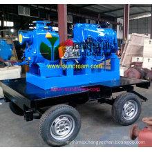 Diesel Engine Non-Clogging Self Priming Sewage Pump