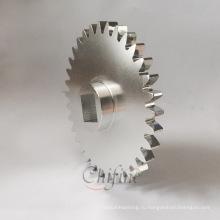 Пользовательские алюминиевого литья и механической обработки зубчатых колес с Анодировать