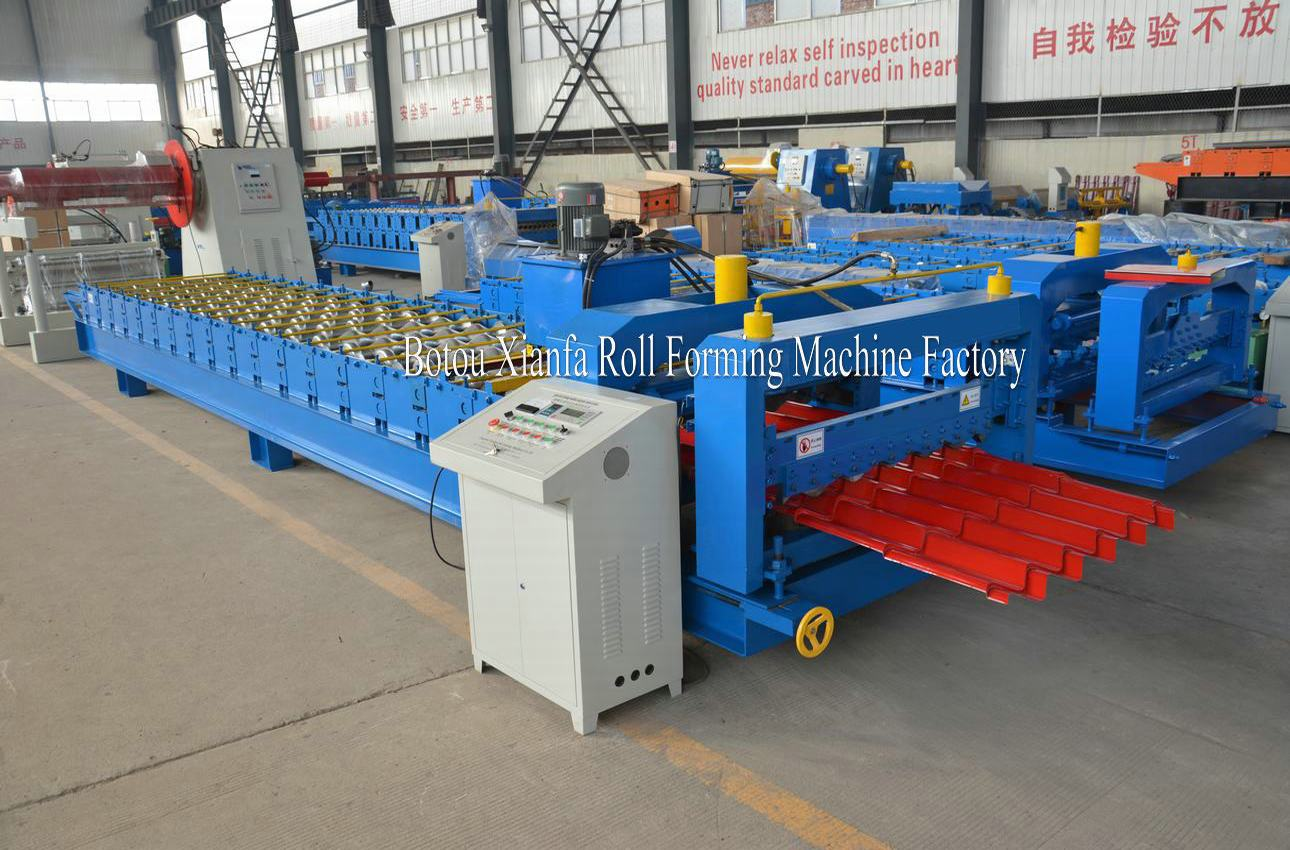 circular arc glazed tile machine