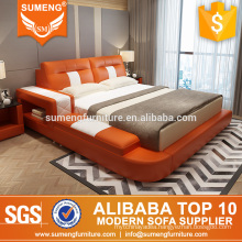 Modern Orange divan bed design,bed design furniture