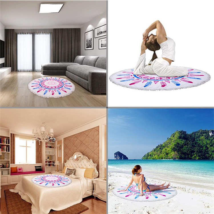 Round Beach Towel Flamingo