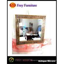 Fashion Mosaic Decorative Rectangle Wall Wood Mirror Frame
