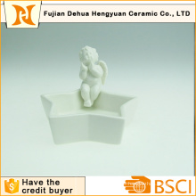 Ceramic Angle Craft with Star Base for Home Decoration