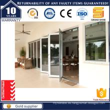 Puerta corredera doble de aluminio