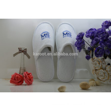 white cheap soft personalized high quality terry towel bath hotel slipper