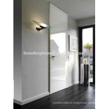 Diseño del polaco de la puerta de madera blanca de la venta caliente
