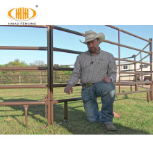 Wholesale price 5 bar round horse corral panels for sale