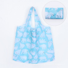 Eco friendly foldable Shopping Bag Reusable folding up Grocery Shopping Tote Bags Convenient