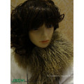 Wholesale Long Hair Curly Fur Mongolian Lamb Fur Wool Scarf
