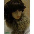 Atacado Long Hair Curly Fur Mongolian pele de carneiro cachecol de lã