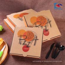 logotipo personalizado Mais Barato Reciclar E-Flauta Caixas De Pizza Corrugada
