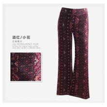 Soem-Frauen-beiläufige Hose-reizvolle Blumen-Druck-Rayon-Damen-Hosen
