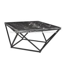Cubierta de granito industrial con mesa de café de base de metal