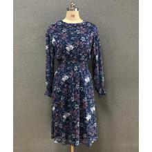 women's chiffon print dress