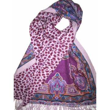 Reversible Print Wool Wrap