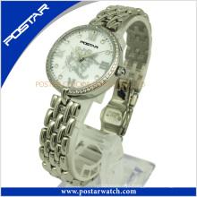 Relógio de aço inoxidável vintage nova moda