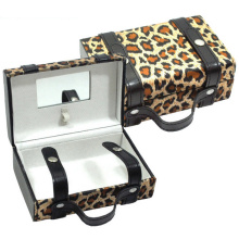 Leopard Cosmetic Handbag with Makeup Mirror