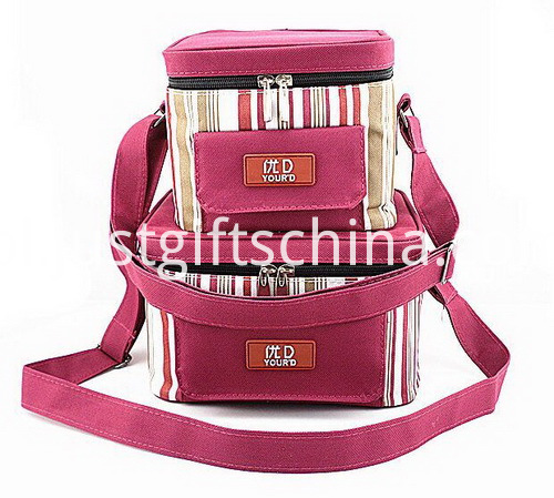 Personalized Quality 600D Polyester Striped Cooler Bags (2)