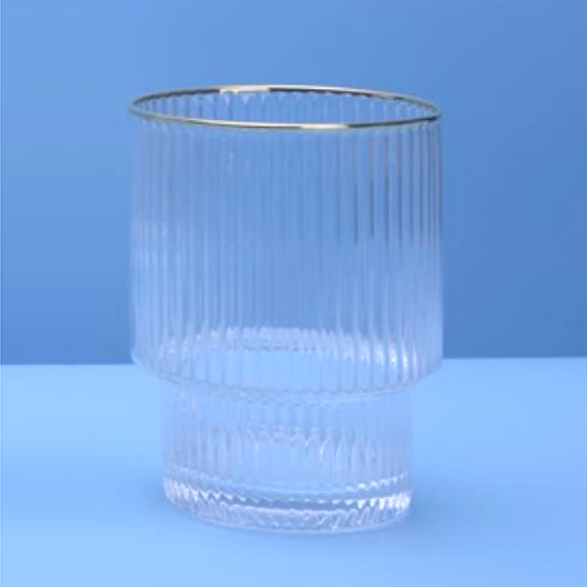 Ribbed Drinking Glass Wine Glassware Wholesale