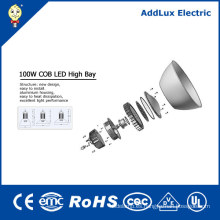 CE UL IP65 100W Industrial COB LED alta lámpara de la bahía