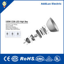 Lâmpada alta industrial da baía do diodo emissor de luz da ESPIGA industrial do UL IP65 100W do CE