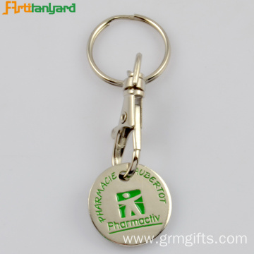 Iron Trolley Keychain With Soft Enamel