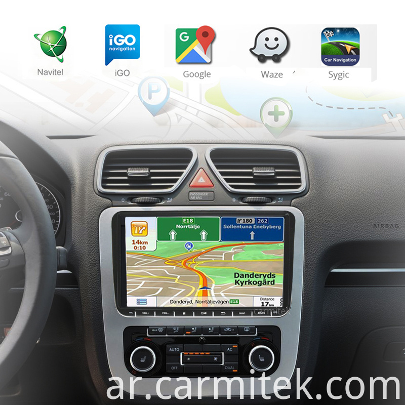 Car Radio Head unit 2 Din Android GPS for Audi A4 Navigation Android