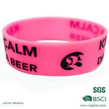 Customized Pinky Logo PVC Rubber Silicone Wristband
