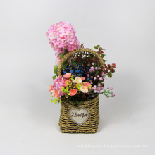 Popular factory price hanging flowers basket for home decoration