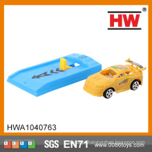 Engraçado 8 centímetros de plástico Kids cor sólida com placa de ejeção micro mini brinquedo carros