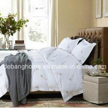 Alta qualidade 100% algodão branco estilo simples confortável conjuntos de cama