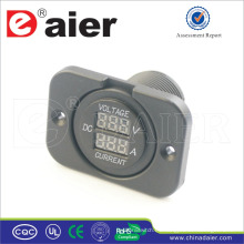 Amperímetro y voltímetro de Digitaces del puerto dual del coche de la placa fija de Daier