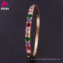 Moda Joyas Eco-Friendly de alta calidad elegante 18k oro plateado brazalete