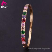 Fashion Jewelry Eco-Friendly Top Quality Elegant 18k Gold Plated Bangle