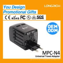 2017 Chargeur électronique avec prix de gros Adaptateur de voyage OEM N4