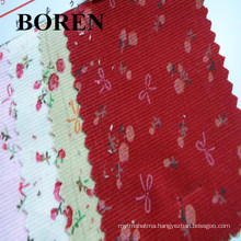 100% Printed Cotton and Its Blenched Corduroy Fabric