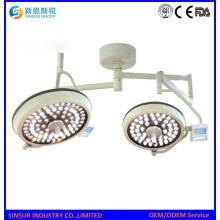 Equipo quirúrgico LED de doble cabeza de techo sin sombras lámpara de funcionamiento