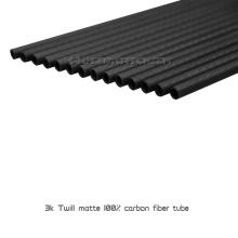 Tubo de fibra de carbono para passatempo / pólo / tubulação / tubulação