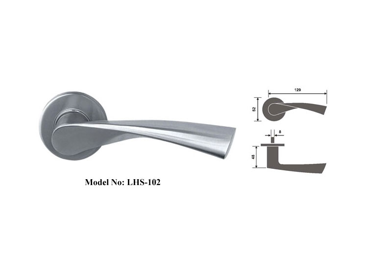 High Quality Solid Lever Handles on Roses
