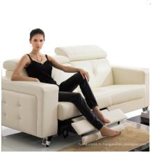 Canapé de salon avec canapé moderne en cuir véritable (404)